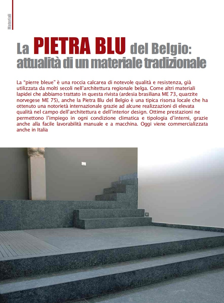Belgian Blu Stone: modernity of a traditional material