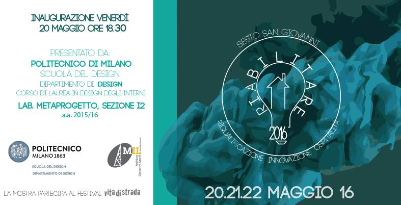 Riabilitare politecnico di milano students exhibition at for Interior design politecnico di milano