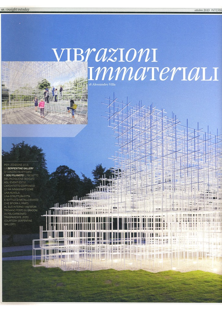Immaterial vibrations - Alessandro Villa architect