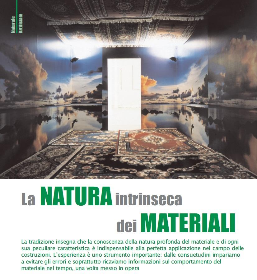 Nature of materials - Alessandro Villa architect