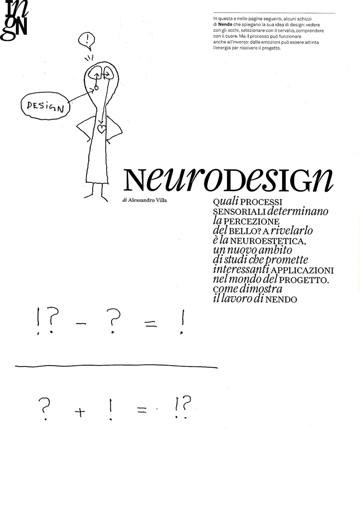 Neurodesign - Alessandro Villa architect