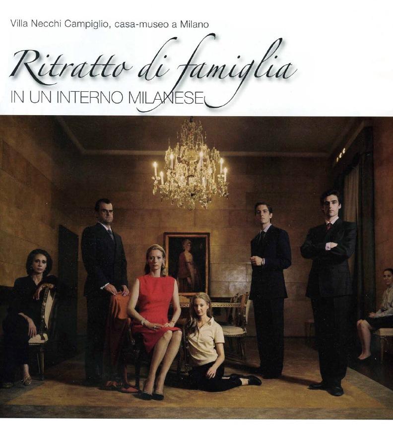 Family portrait at Villa Necchi - Alessandro Villa architect