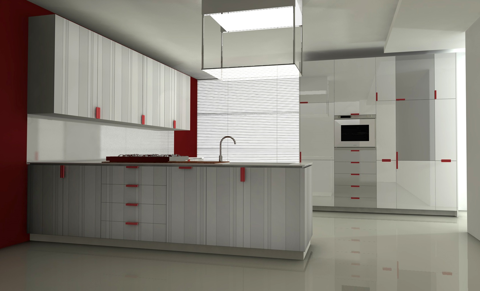 Digital print laminates, kitchen system - Alessandro Villa architect