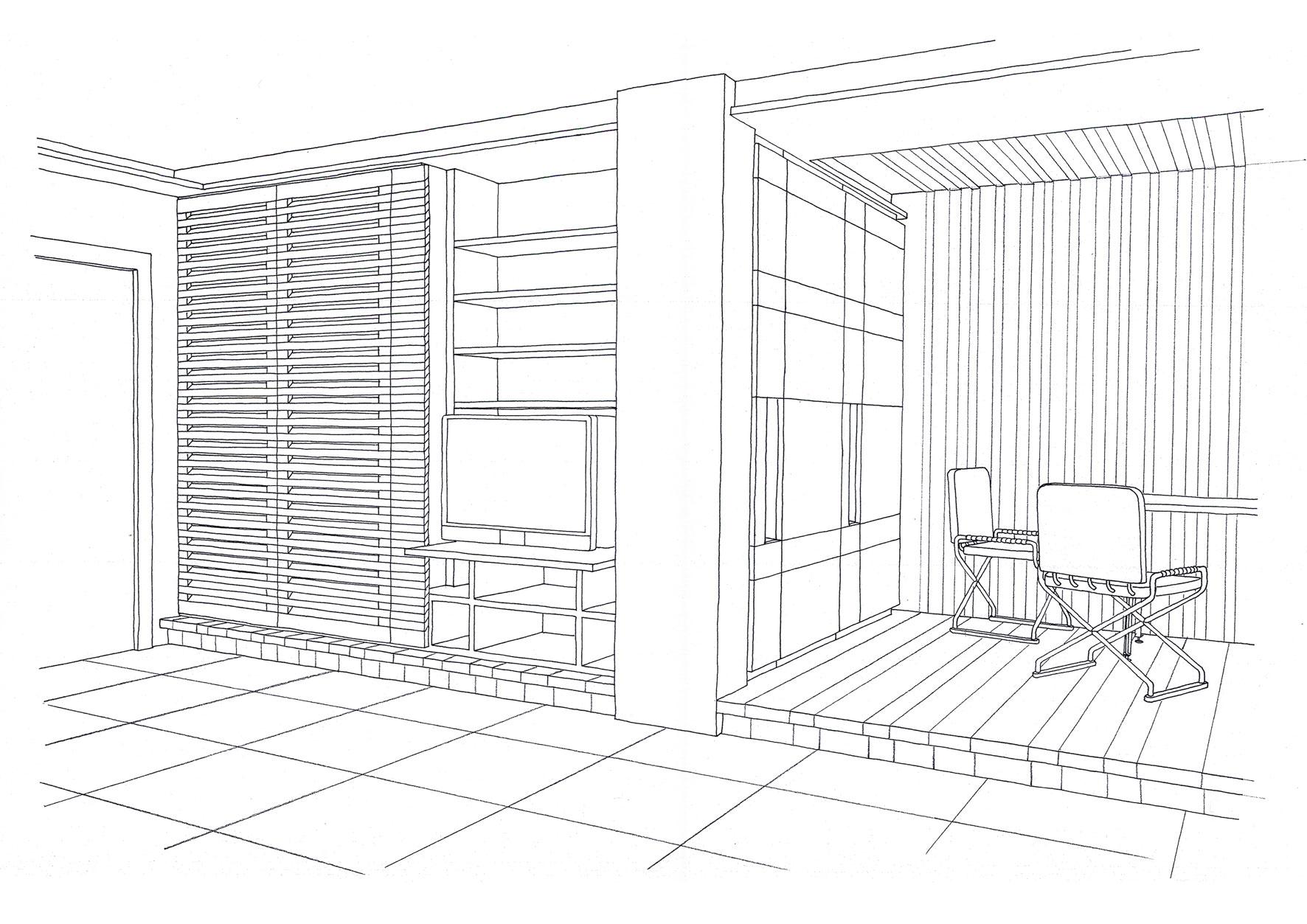 Dining platform - Alessandro Villa architect